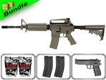 Lancer Tactical Airsoft Gun Player's Package M4A1 Carbine LT-06T with 10,000 Rd BB, 3 Magazines, M757 Pistol + Free Shipping