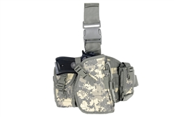 Lancer Tactical Drop-Leg MOLLE Thigh Rig with Holster and Pouches (ACU)