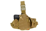 Lancer Tactical Drop-Leg MOLLE Thigh Rig with Holster and Pouches (Tan)