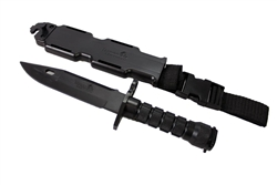 Lancer Tactical Rubber Combat Bayonet Knife with Scabbard/Sheath