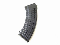 "AK 500 Round High-Capacity Tactical Magazine with ""Waffle"" Grip and Ring Loop (Black)"