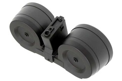 MetalTac M4 3000-Round Dual Drum Magazine with Electric Self-Winding System (3000-Round Carrying Capacity)