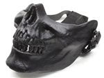 Black Skull Jaw Airsoft Protection Mask Half Face (Black)