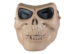 Full Face Skull Airsoft Protection Mask (Tan)