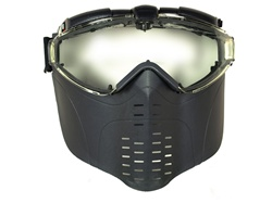 Fan Vented Pro Goggle Full Face Mask (Black)