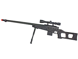 MetalTac VS Soviet Sniper Rifle Bolt-Action Airsoft Rifle 460 FPS Fluted Barrel w/ 4-16x50 Attacker Scope & Bi-Pod Package