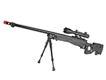 MetalTac Mark-96 MOD 02 Version Airsoft Sniper Rifle 460 FPS Fluted Barrel w/ 4-16x50 Attacker Scope & Bi-Pod Package