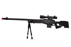 MetalTac Mark-96 M0D 01 Version Airsoft Sniper Rifle 460 FPS Fluted Barrel w/ 4-16x50 Attacker Scope & Bi-Pod Package