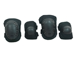 Protective Knee Pads & Elbow Pads Airsoft Protection Gear (Black)