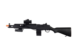 UKARMS M305P M14 Sniper Spring Airsoft Gun with Laser and Scope Attachements