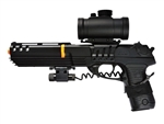 Double Eagle M39GL++ Robocop with Red Dot Sight and Laser Module Airsoft Spring Gun