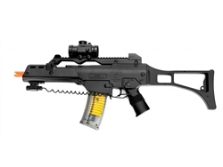 UKARMS M41GL++ X36 Assault Airsoft Spring Rifle with Red Dot Scope and Barrel Extension