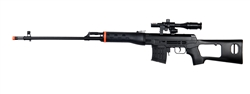 UKArms M677 SVD Spring Airsoft Gun with Laser Scope and Flashlight Accessories (Black)