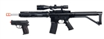 UKArms P1136 Spring Sniper Rifle w/Scope, Laser, & Flashlight and P618 Spring Pistol Package