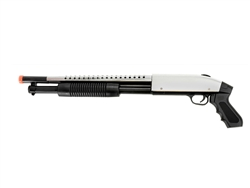 UKArms Sawed-Off 788S Pump-Action Spring Powered Airsoft Shotgun (Silver)