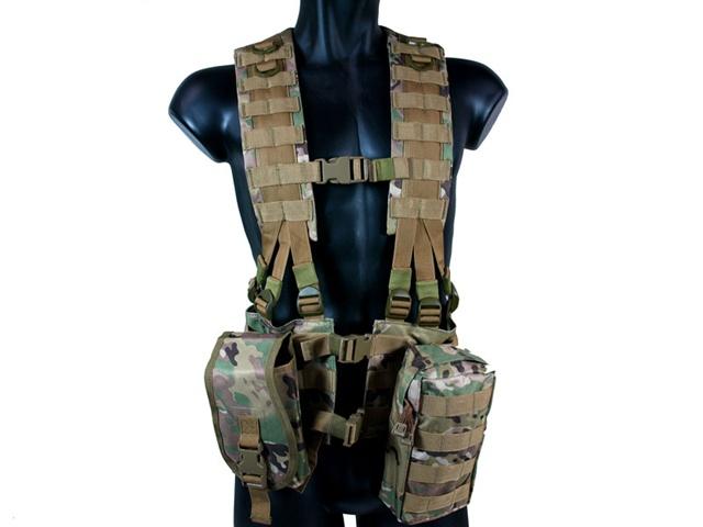 MetalTac Tactical Load Bearing MOLLE Vest (Multi-Camo Pattern) f10de69b2d2