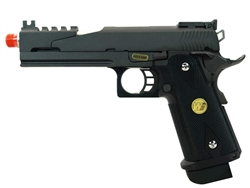 WE Full Metal Dragon Hi-Capa 4.3 Gas BlowBack Airsoft Gun with 30-Round Magazine with Bumper Plate