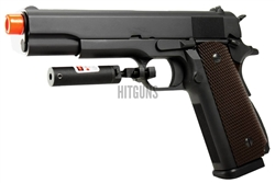 WE M1911A1 [WE-027] High Capacity Gas Blow Back Gun with Trigger Guard Laser Attachement
