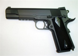 WE Full Metal Combat 1911 with Integrated Rail System Gas BlowBack Airsoft Gun (Black)
