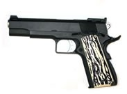 WE Full Metal Ported 1911 with Stag Style Grips Gas BlowBack Airsoft Gun (Black)