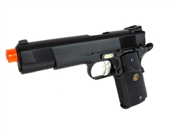 WE Full Metal 1911 Tactical MEU Gas BlowBack Airsoft Gun (Black)