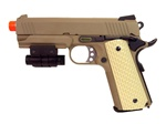 WE 1911 4.3 Desert Tan Full Metal Gas Blow Back Airsoft Gun