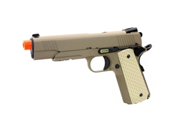 WE 1911 Desert Warrior Style Dark Earth Tan Full Metal Gas Blow Back Airsoft Gun
