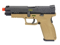 WE DM Tactical 4.5 Gas Blow Back Airsoft Pistol (Black/Tan)