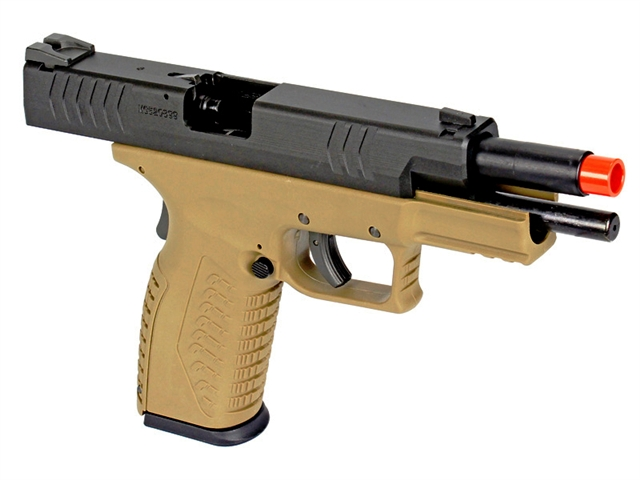 WE DM Tactical 4 5 Gas Blow Back Airsoft Pistol (Black/Tan)
