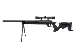 Well MB04 G-22 AWM Airsoft Sniper Rifle w/ 3-9x40 Scope & Bi-Pod Upgraded to 500+ FPS