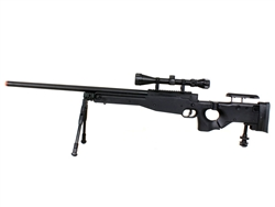 Well MB08 L96 AWP Airsoft Sniper Rifle Folding Stock w/ 3-9x40 Scope & Bi-Pod