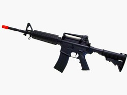 Well M4 A1 Carbine Extendable Stock Metal Gear Box AEG 380 FPS