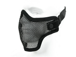 Airsoft Mask Half Face Metal Wired Mesh (Black)