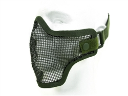 Airsoft Mask Half Face Metal Wired Mesh (Green)