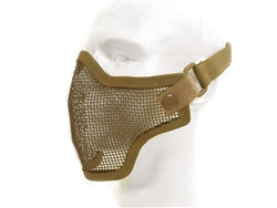 Airsoft Mask Half Face Metal Wired Mesh (Dark Earth Tan)