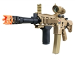 G&G GR16 Rush Electric Blow Back Airsoft Gun with Tan Red Dot Scope and Stubby Vertical Grip Package (Tan)
