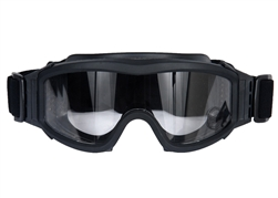 Lancer Tactical Basic Airsoft Protection Goggles in Black (Clear Lens)