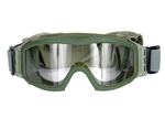 Lancer Tactical Basic Airsoft Protection Goggles in Olive Drab (Clear Lens)