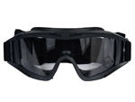 Lancer Tactical Standard Airsoft Protection Goggles (Black/Clear Lens)