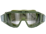 Lancer Tactical Standard Airsoft Protection Goggles (Olive Drab/Clear Lens)