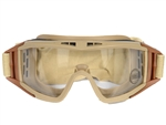 Lancer Tactical Standard Airsoft Protection Goggles (Tan/Clear Lens)