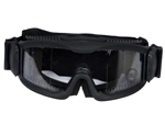 Lancer Tactical CA-221B Clear Lens Vented Safety Airsoft Goggles (Black), Maxiumum Protection & Air Flow