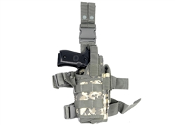 "Lancer Tactical ""Tornado"" Universal Drop Leg Holster for Pistol and Spare Magazine (ACU)"