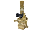 "Lancer Tactical ""Tornado"" Universal Drop Leg Holster for Pistol and Spare Magazine (Multi-Camo)"