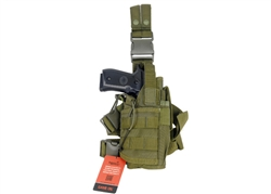 "Lancer Tactical ""Tornado"" Universal Drop Leg Holster for Pistol and Spare Magazine (Olive Drab)"