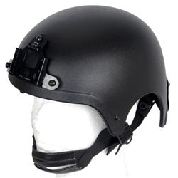 Lancer Tactical IBH Type Airsoft Protection Helmet with Integrated NVG Mount and Adjustable Retention Straps (Black)