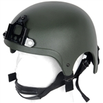 Lancer Tactical IBH Type Airsoft Protection Helmet with Integrated NVG Mount and Adjustable Retention Straps in Olive Drab