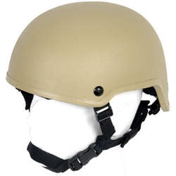 Lancer Tactical MICH 2001 Type Airsoft Protection Helmet with Adjustable Retention Straps (Tan)