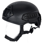 Lancer Tactical CA-333 MICH Type Basic Airsoft Helmet w/ Integrated NVG Mount, 2 Side Rails (Black)