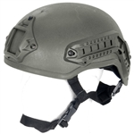 Lancer Tactical CA-333 MICH Type Basic Airsoft Helmet w/ Integrated NVG Mount, 2 Side Rails (Olive Drab)